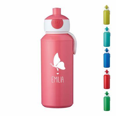 """Trinkflasche """"Schmetterling Silhouette"""" - personalisiert"""