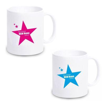 """Tasse """"Stern"""" (Design: pink oder blau)"""