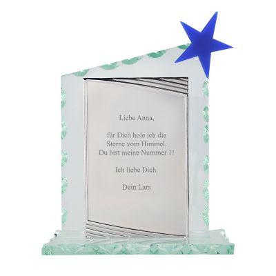 Glaspokal mit Gravur - personalisiert (Stern)
