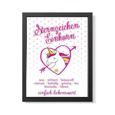 """Bild """"Sternzeichen Einhorn"""" (verschiedene Größen)"""