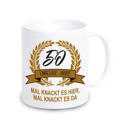 """Personalisierte Tasse """"Knackige Jahre"""" mit Wunschzahl"""