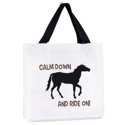 """Tragetasche """"Calm down & ride on!"""""""