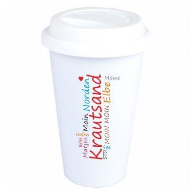 """Coffee-to-go Becher """"typisch Krautsand"""""""