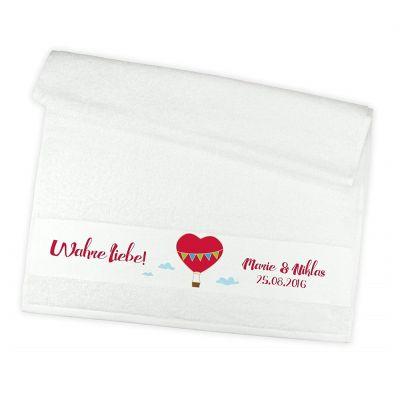 """Handtuch """"Wahre Liebe!"""" - personalisiert"""
