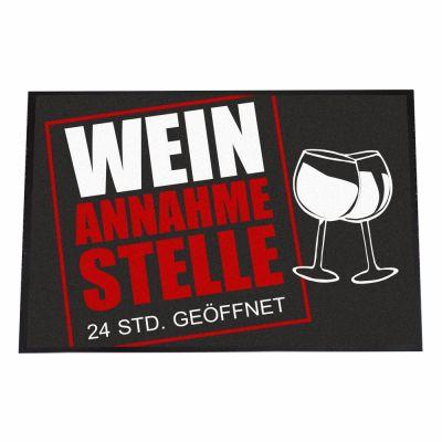 """Fußmatte """"Wein Annahmestelle"""""""