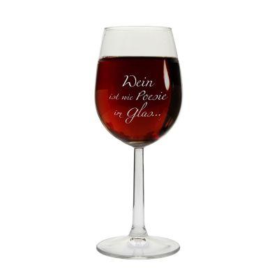"""Weinglas """"Wein ist wie Poesie im Glas..."""""""