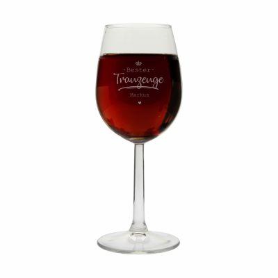"""Personalisiertes Weinglas """"Bester Trauzeuge"""""""