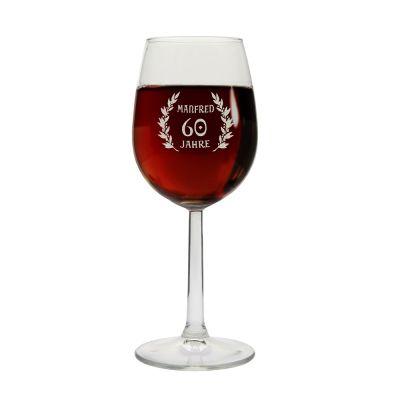 Weinglas zum Geburtstag - personalisiert