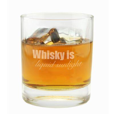 "Whiskyglas ""Whisky is liquid sunlight"""