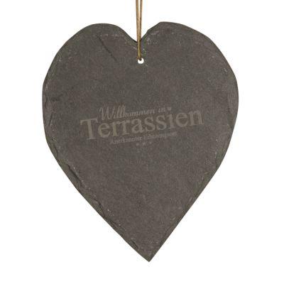 """Schieferherz """"Willkommen in Terrassien"""""""