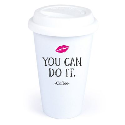 """Coffee-to-go Becher """"You can do it"""""""
