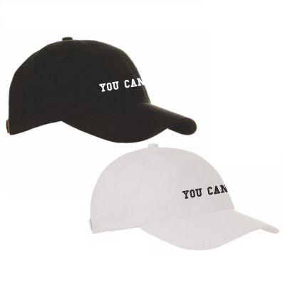 """Cap """"YOU CAN"""" (Farbe: schwarz und weiß)"""