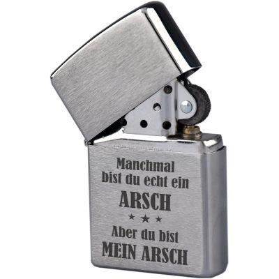 """Zippo """"Mein Arsch"""""""
