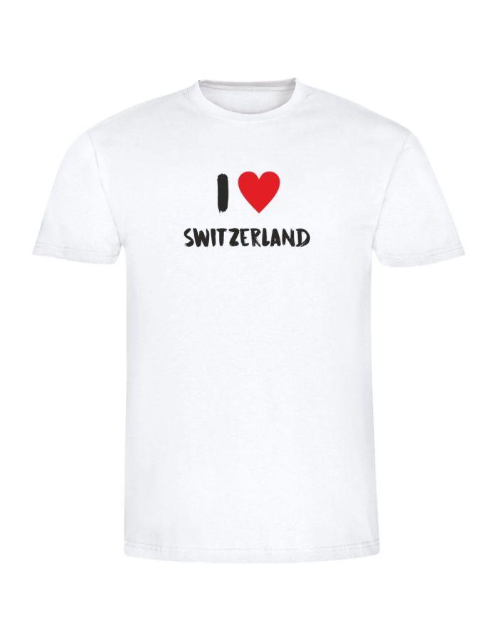 """T-Shirt """"I love Switzerland"""" - Herren"""