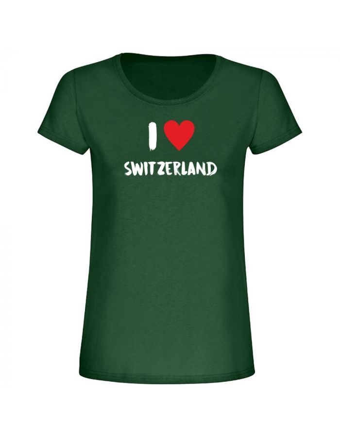 "T-Shirt ""I love Switzerland"" - Damen"