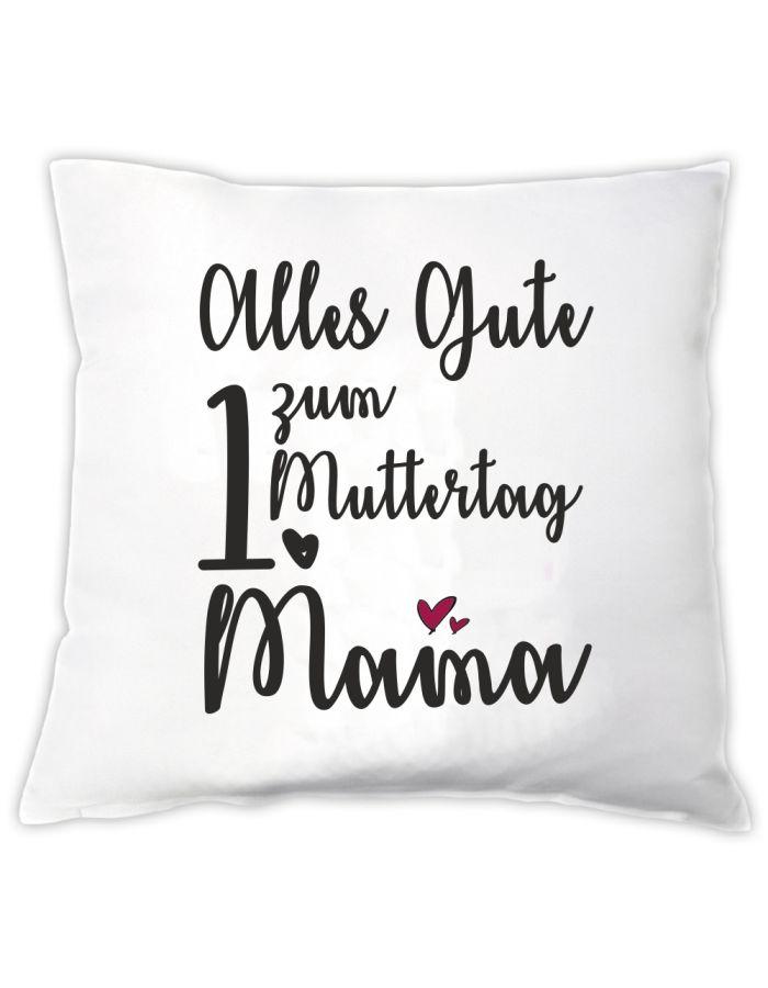 """Personalisiertes Kissen """"Alles Gute zum [Zahl] Muttertag Mama"""""""