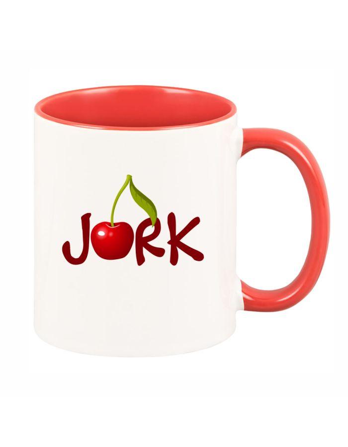 """rote Tasse """"Jork mit Kirsche"""""""