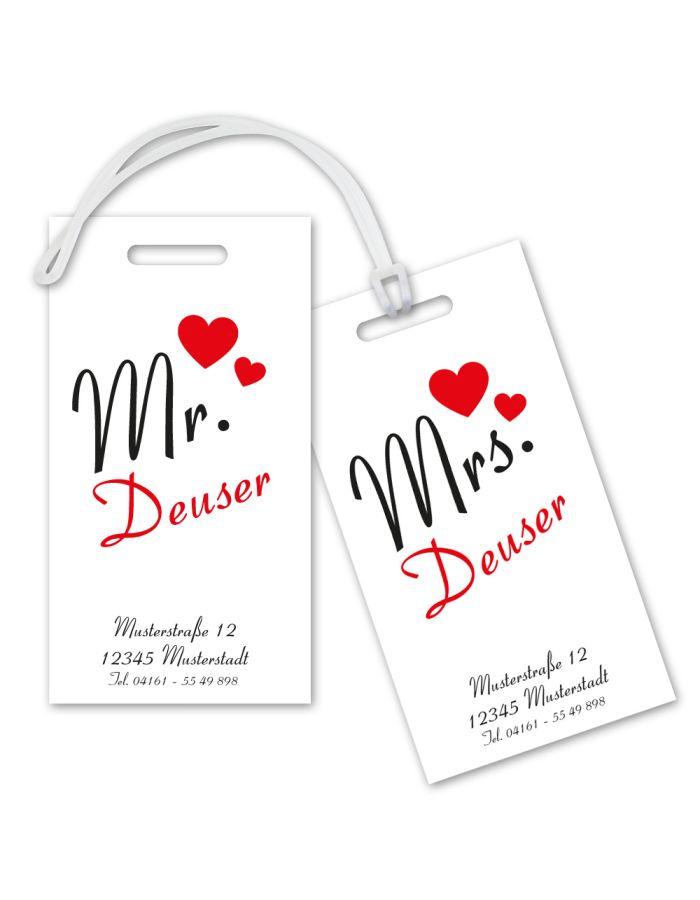 "Kofferanhänger-Set ""Mr. & Mrs."" - personalisiert"