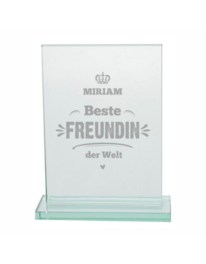 """Glaspokal """"Beste Freundin der Welt"""" - personalisiert"""