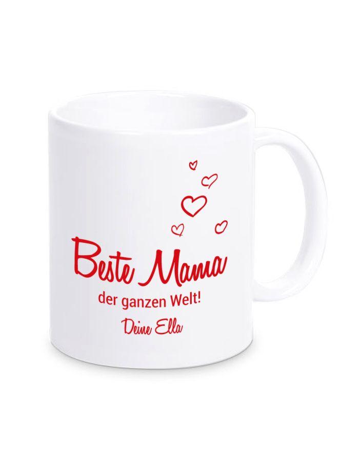 """Tasse """"Beste Mama der ganzen Welt!"""" - personalisiert"""