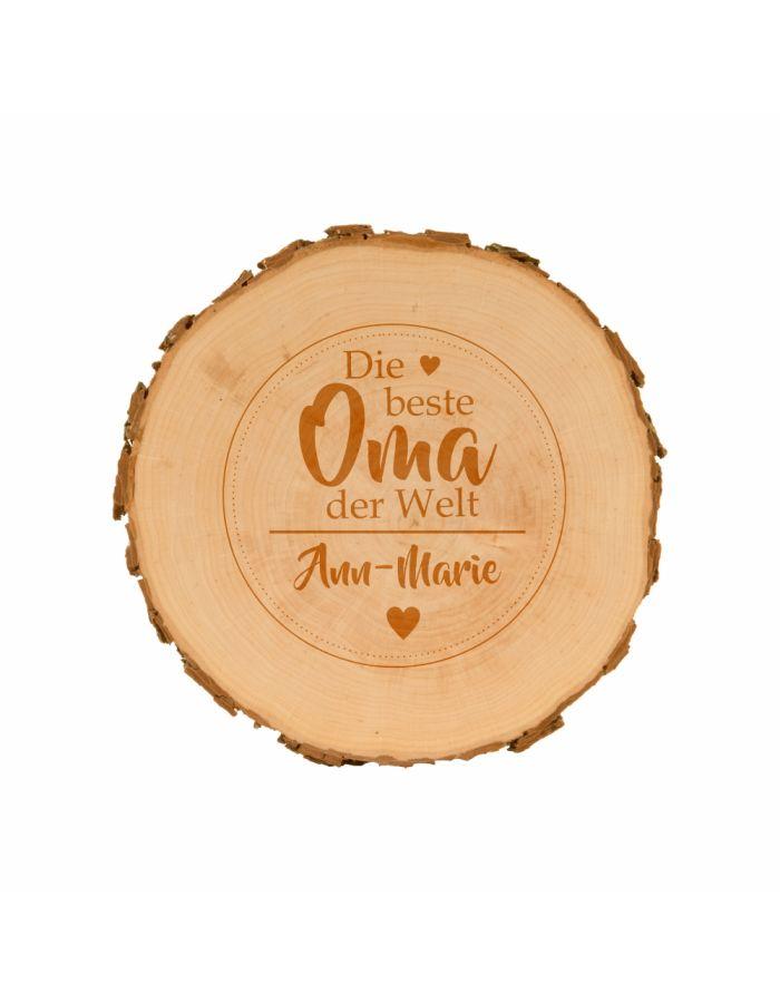 Baumscheibe für die beste Oma - personalisiert