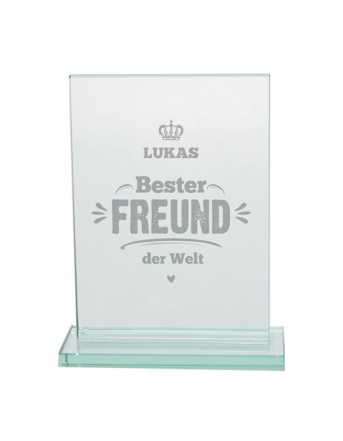 """Glaspokal """"Bester Freund der Welt"""" - personalisiert"""