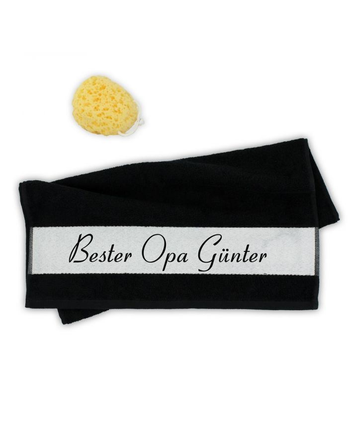 "Handtuch ""Bester Opa"" - personalisiert"