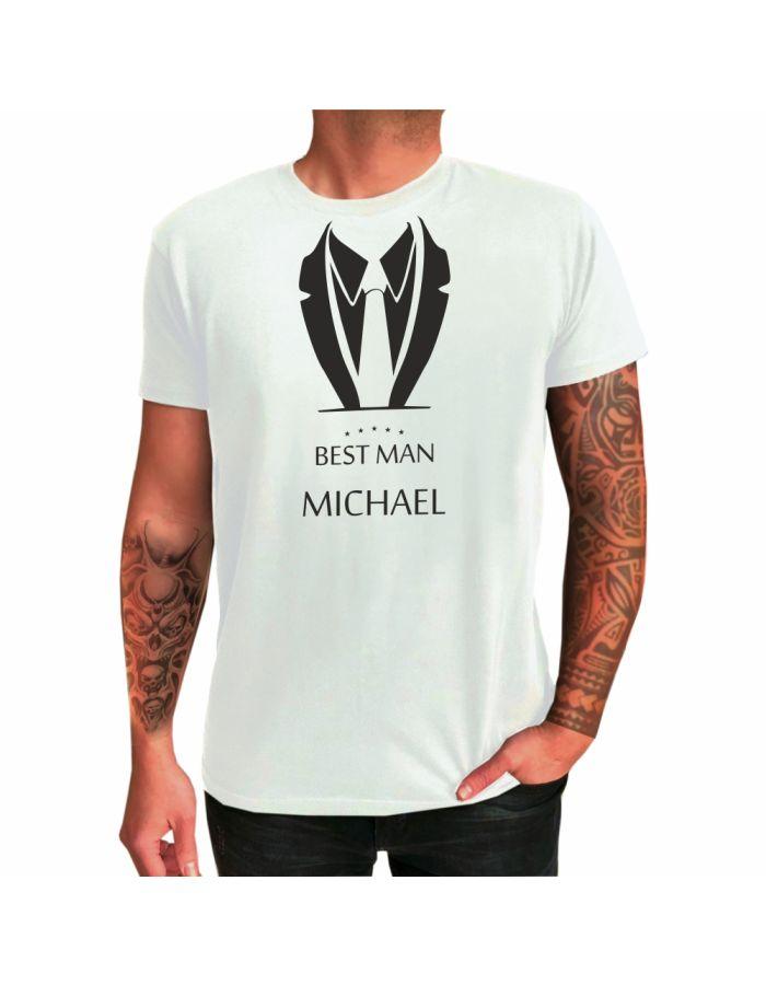 """Personalisiertes T-Shirt """"Best Man"""" (Anzug-Motiv)"""