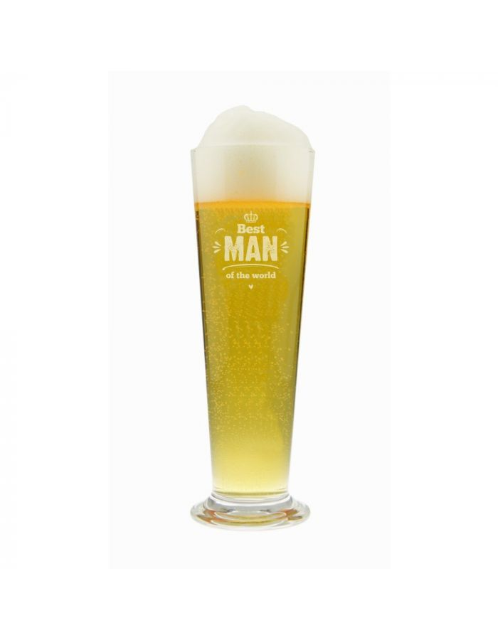 "Bierglas ""Best Man of the World"" (Krone-Motiv)"