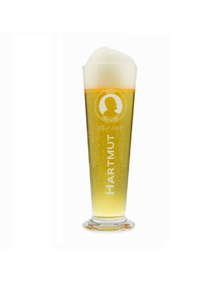"""Personalisiertes Bierglas """"Genießer"""" mit Logo"""