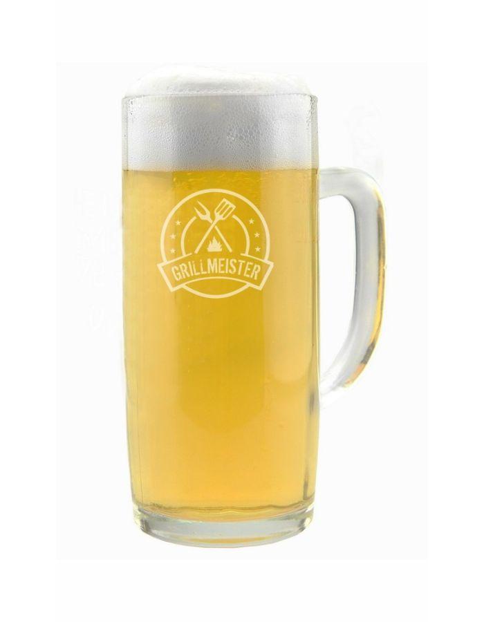 """Bierkrug """"Grillmeister"""" mit Logo - in verschiedenen Größen"""