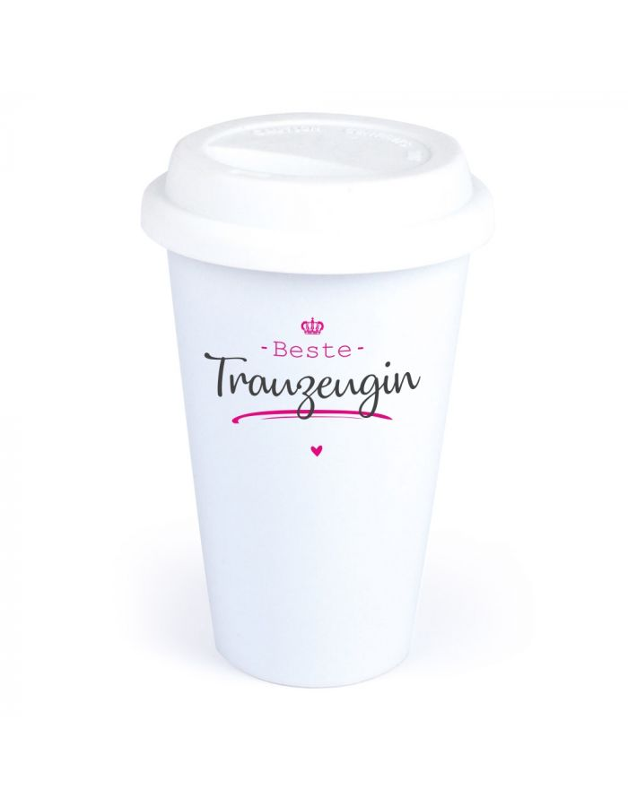"Coffee-to-go Becher ""Beste Trauzeugin"""