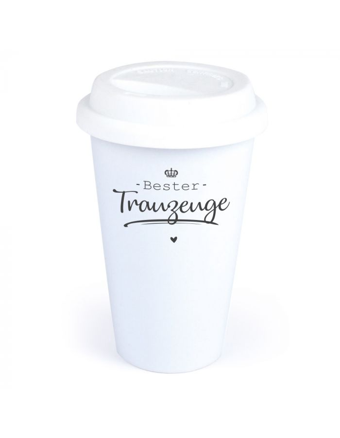 "Coffee-to-go Becher ""Bester Trauzeuge"""