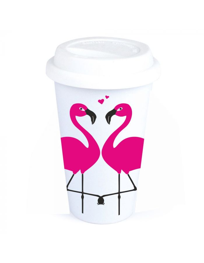 "Coffee-to-go Becher ""Flamingo"""
