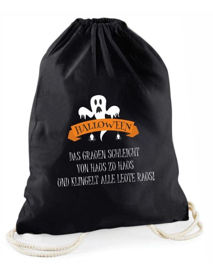 Halloween Beutel - schwarzer Süßigkeitenbeutel mit verschiedenen Motiven – Tasche – Tragetasche für Kinder – Aufbewahrungsbeutel Halloween - Kostüm