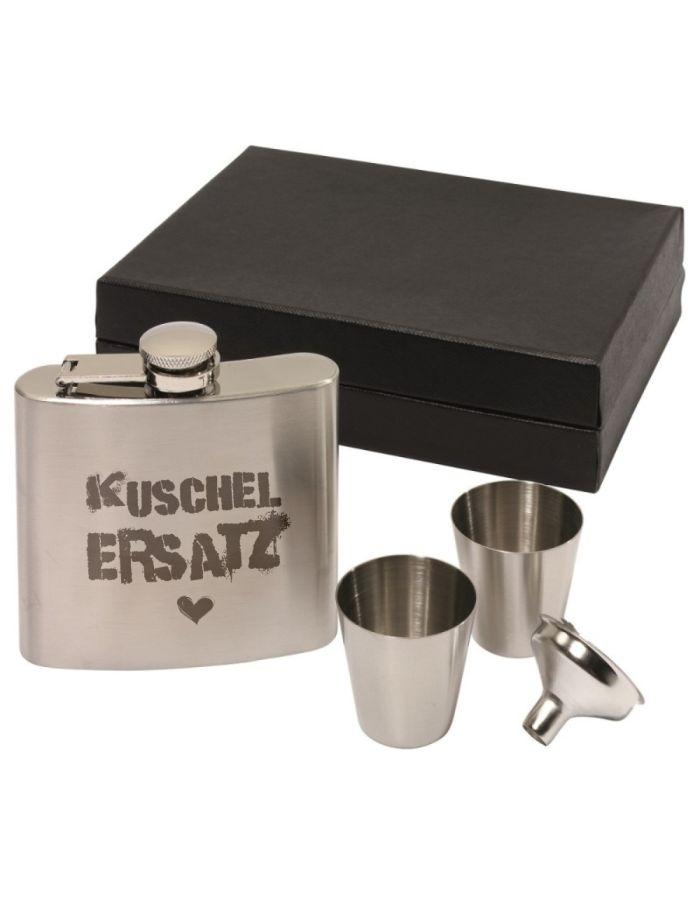 "Flachmann Set ""Kuschel Ersatz"""