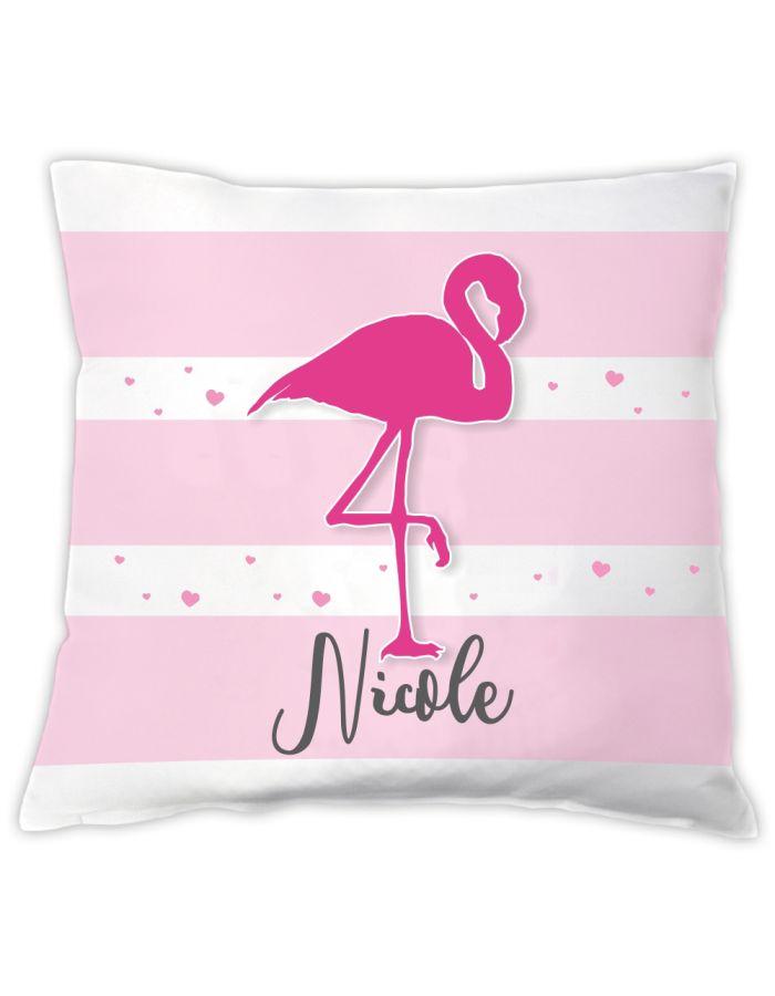 Kissen Flamingo - personalisiert