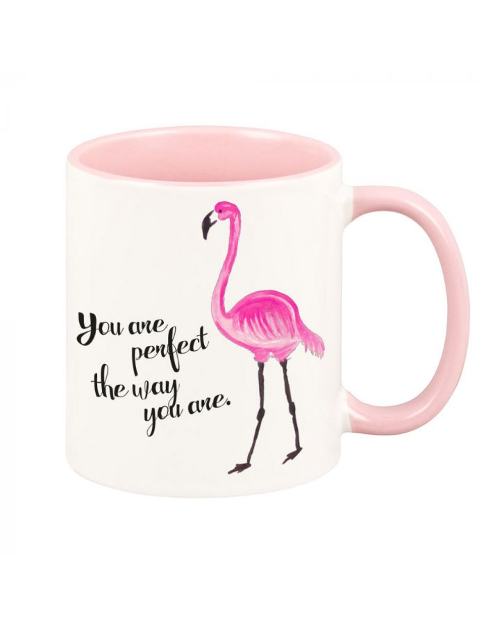 """Tasse """"You are perfect the way you are"""" (Farbe: weiß, rosa oder schwarz)"""