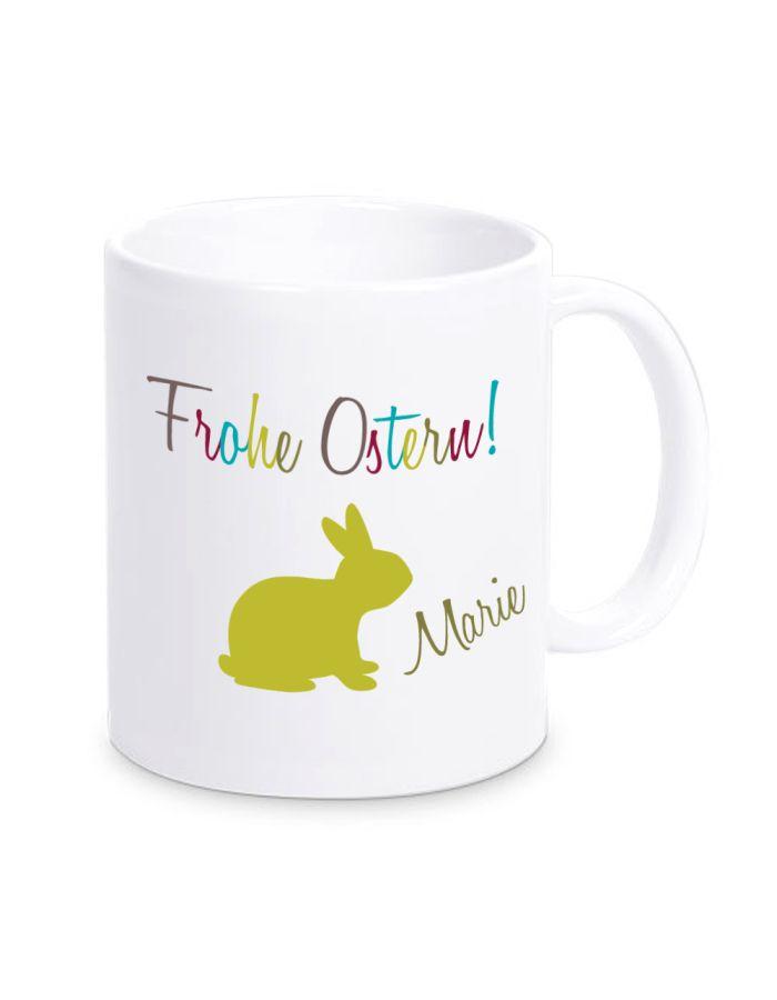 "Tasse ""Frohe Ostern!"" - personalisiert"