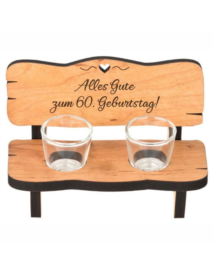 """Schnapsbank """"Alles Gute zum 60. Geburtstag!"""""""