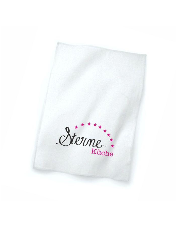 """Geschirrtuch weiß """"Sterne Küche"""""""