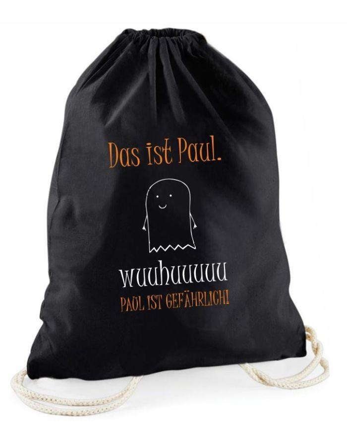 Personalisierter Halloween Beutel - schwarzer Süßigkeitenbeutel mit verschiedenen Motiven – Tasche – Tragetasche für Kinder – Aufbewahrungsbeutel Halloween - Kostüm-Geist-Motiv