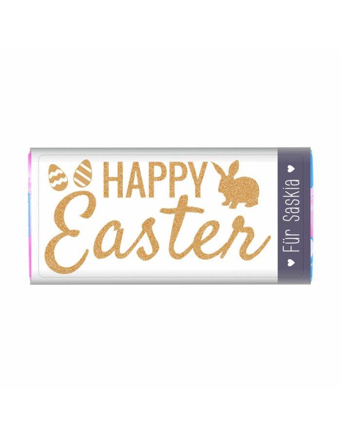 """Osterschokolade """"Happy Easter"""" Schokolade mit Personalisierung"""