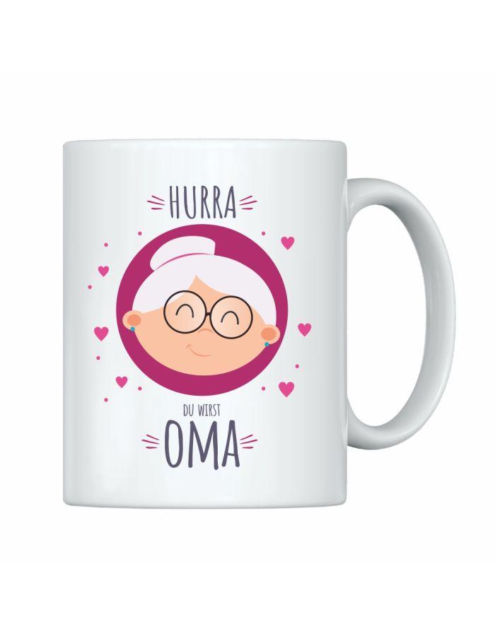 """Tasse """"Hurra Du wirst Oma"""""""