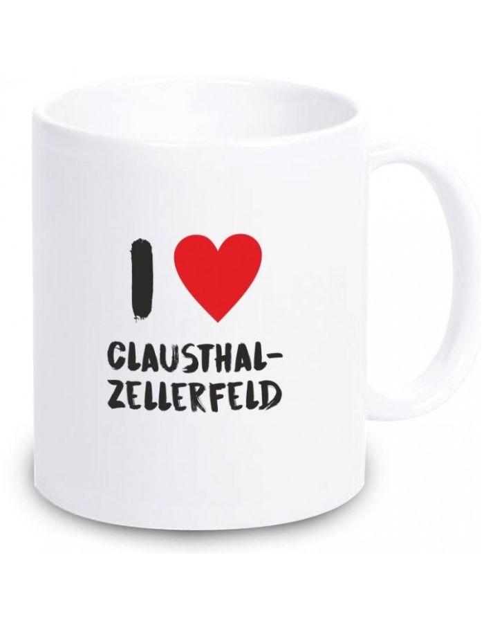 """Tasse """"I love Clausthal-Zellerfeld"""""""