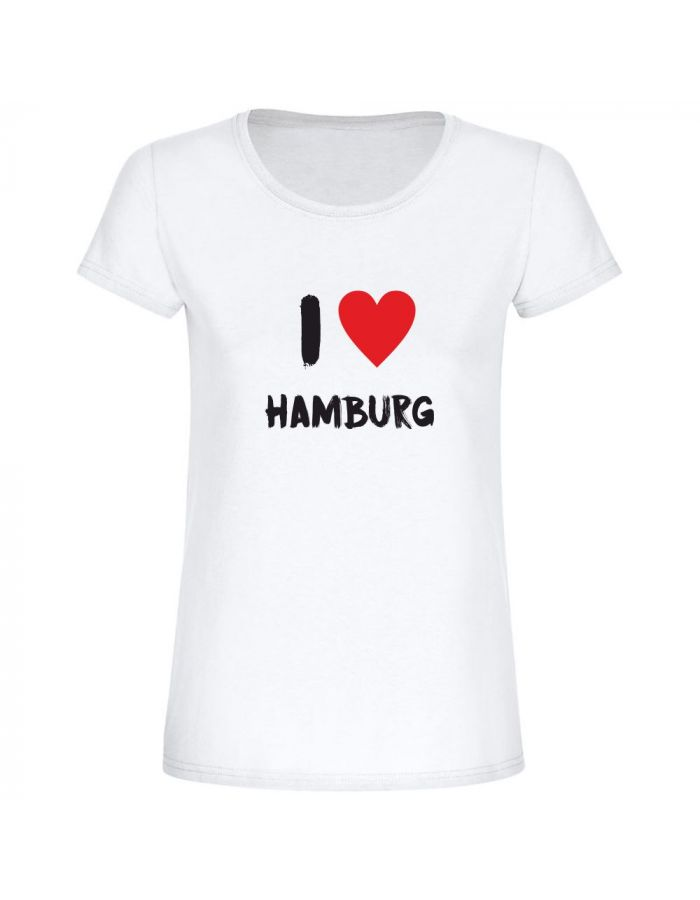 "T-Shirt ""I love Hamburg"" - Damen"