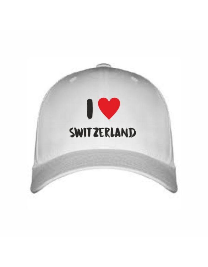 """Cap """"I love Switzerland"""""""