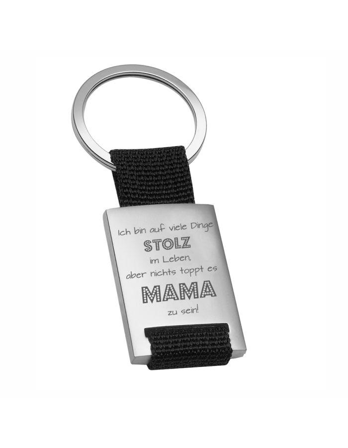 """Metall-Schlüsselanhänger """"Nichts toppt es Mama zu sein"""""""