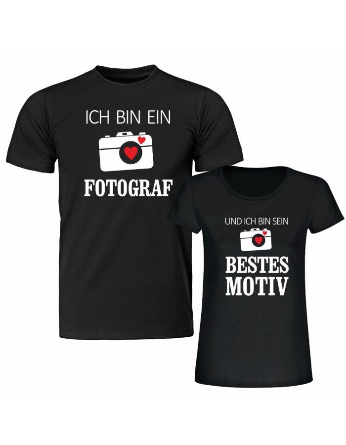 """T-Shirt SET """"Ich bin ein Fotograf"""" & """"Und ich bin sein bestes Motiv"""""""