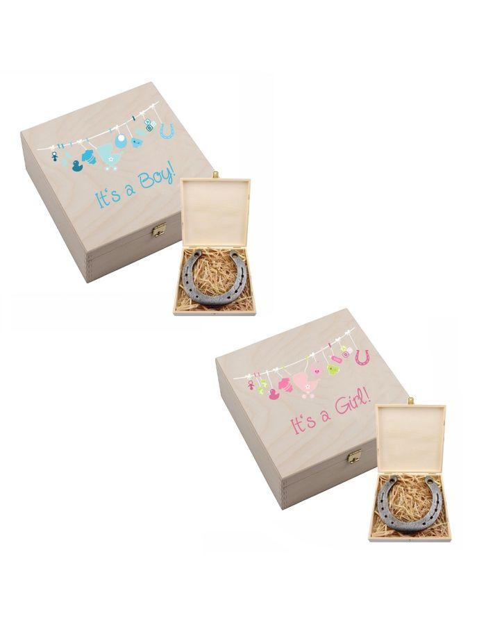 "Hufeisen-Box ""It´s a Girl / Boy"""